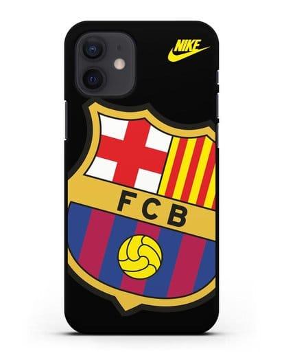 Чехол с эмблемой Барселона силикон черный для iPhone 12