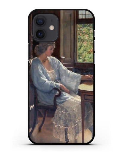 Чехол Раздумие (Кольер Джон) силикон черный для iPhone 12