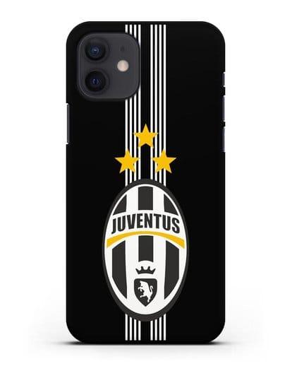 Чехол с логотипом Ювентус силикон черный для iPhone 12