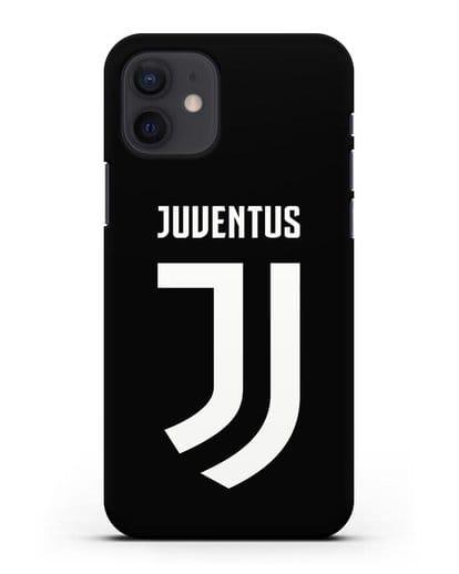 Чехол с логотипом и надписью Juventus силикон черный для iPhone 12