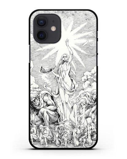 Чехол аниме Атака Титанов - Имир-Прародительница силикон черный для iPhone 12