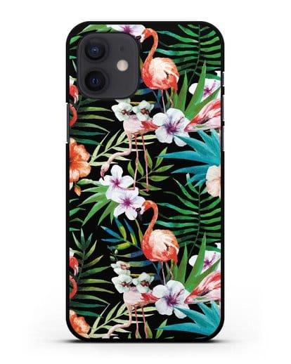 Чехол Дивный сад силикон черный для iPhone 12
