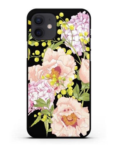 Чехол Садовая мелодия силикон черный для iPhone 12