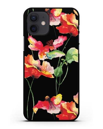 Чехол Маки силикон черный для iPhone 12