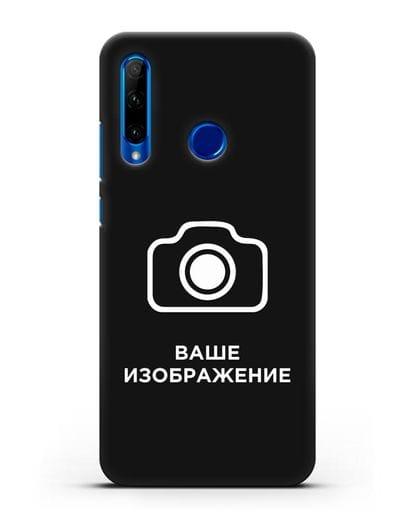 Чехол с фотографией, рисунком, логотипом на заказ силикон черный для Honor 10i