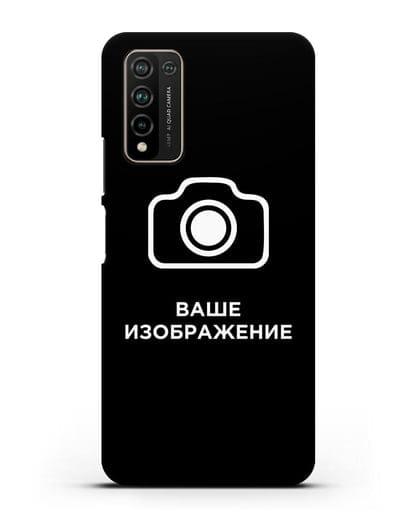 Чехол с фотографией, рисунком, логотипом на заказ силикон черный для Honor 10X Lite