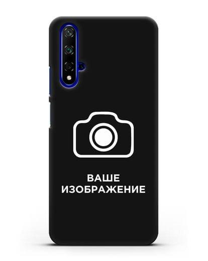 Чехол с фотографией, рисунком, логотипом на заказ силикон черный для Honor 20