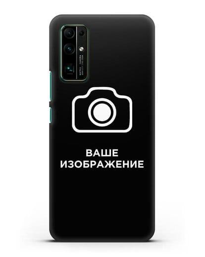 Чехол с фотографией, рисунком, логотипом на заказ силикон черный для Honor 30