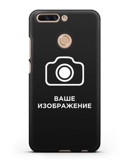 Чехол с фотографией, рисунком, логотипом на заказ силикон черный для Honor 8 Pro