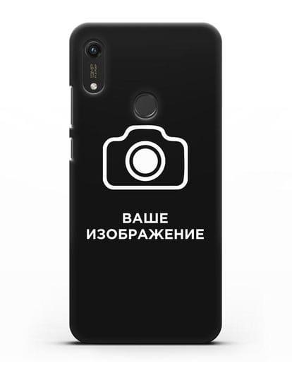 Чехол с фотографией, рисунком, логотипом на заказ силикон черный для Honor 8A Prime