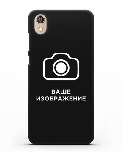 Чехол с фотографией, рисунком, логотипом на заказ силикон черный для Honor 8S