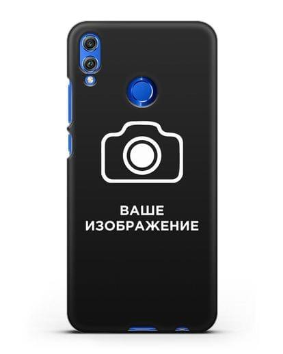 Чехол с фотографией, рисунком, логотипом на заказ силикон черный для Honor 8X