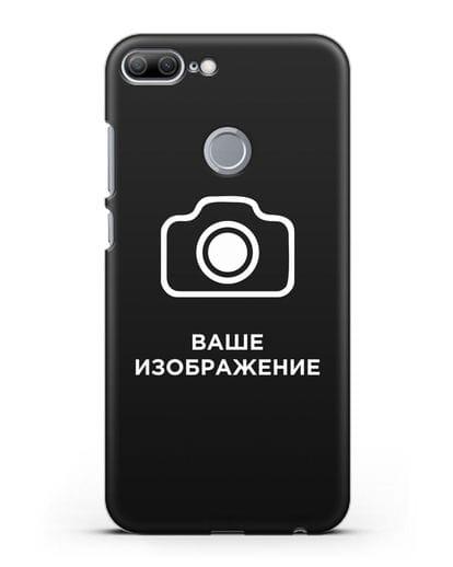 Чехол с фотографией, рисунком, логотипом на заказ силикон черный для Honor 9 Lite