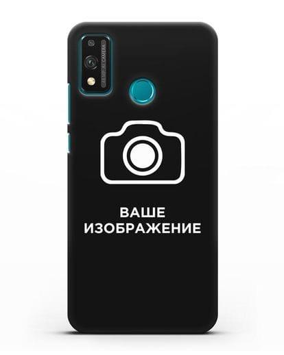 Чехол с фотографией, рисунком, логотипом на заказ силикон черный для Honor 9X lite