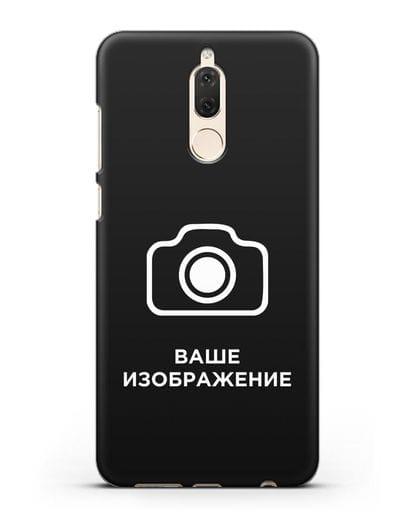 Чехол с фотографией, рисунком, логотипом на заказ силикон черный для Huawei Mate 10 Lite