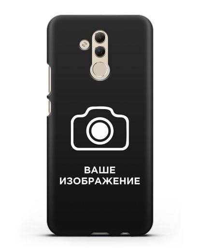 Чехол с фотографией, рисунком, логотипом на заказ силикон черный для Huawei Mate 20 Lite