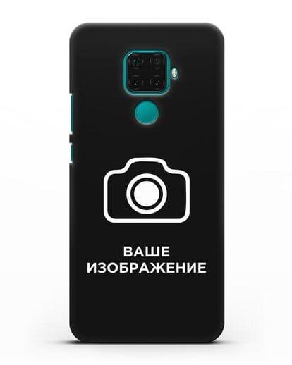 Чехол с фотографией, рисунком, логотипом на заказ силикон черный для Huawei Mate 30 Lite