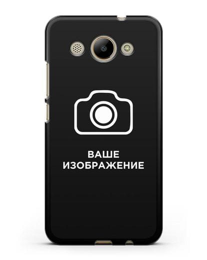 Чехол с фотографией, рисунком, логотипом на заказ силикон черный для Huawei Y3 2017