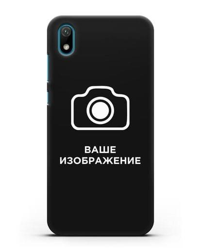 Чехол с фотографией, рисунком, логотипом на заказ силикон черный для Huawei Y5 2019