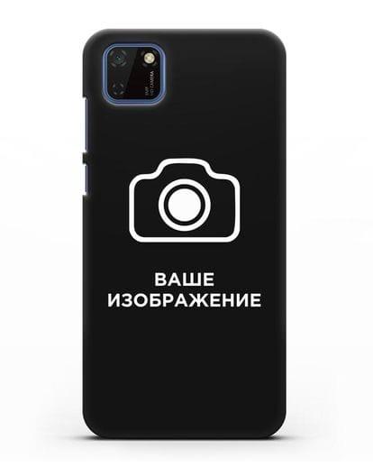 Чехол с фотографией, рисунком, логотипом на заказ силикон черный для Huawei Y5P