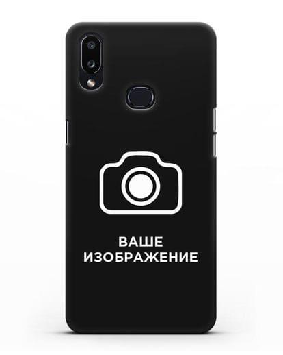 Чехол с фотографией, рисунком, логотипом на заказ силикон черный для Samsung Galaxy A10s [SM-F107F]
