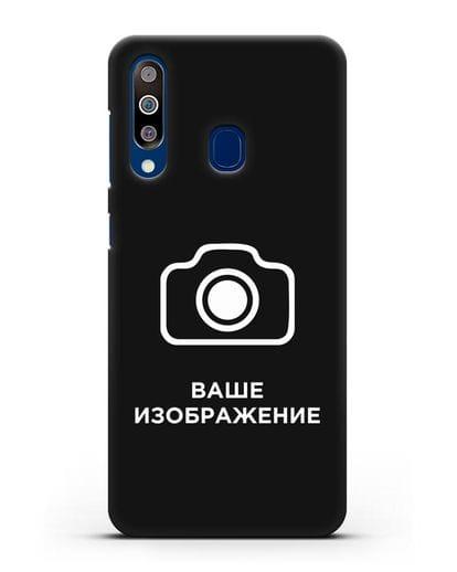 Чехол с фотографией, рисунком, логотипом на заказ силикон черный для Samsung Galaxy A60 [SM-A606F]