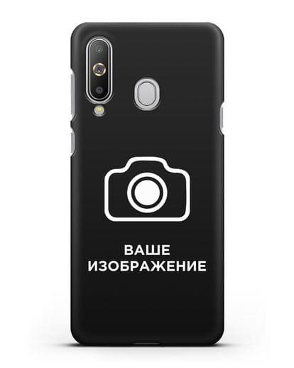 Чехол с фотографией, рисунком, логотипом на заказ силикон черный для Samsung Galaxy A8s [SM-G8870]