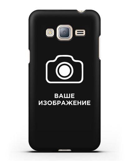 Чехол с фотографией, рисунком, логотипом на заказ силикон черный для Samsung Galaxy J3 2016 [SM-J320F]