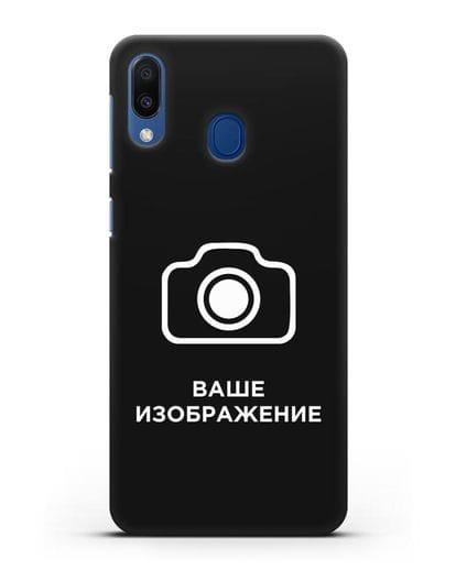 Чехол с фотографией, рисунком, логотипом на заказ силикон черный для Samsung Galaxy M20 [SM-M205F]