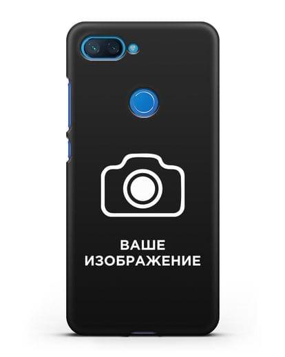 Чехол с фотографией, рисунком, логотипом на заказ силикон черный для Xiaomi Mi 8 Lite