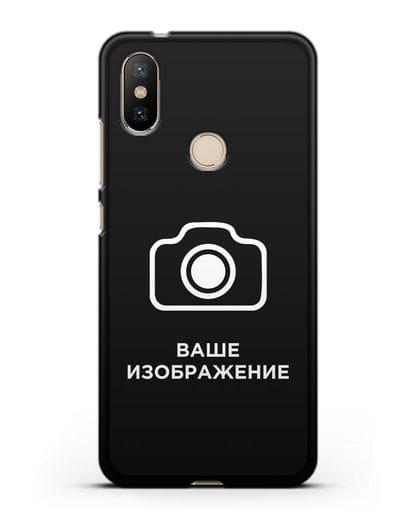 Чехол с фотографией, рисунком, логотипом на заказ силикон черный для Xiaomi Mi A2
