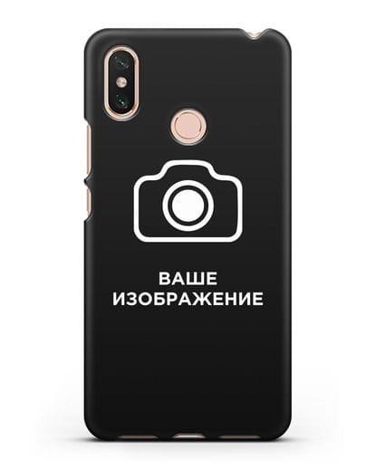 Чехол с фотографией, рисунком, логотипом на заказ силикон черный для Xiaomi Mi Max 3