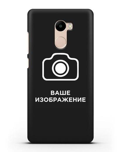 Чехол с фотографией, рисунком, логотипом на заказ силикон черный для Xiaomi Redmi 4