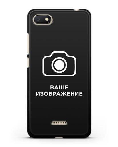 Чехол с фотографией, рисунком, логотипом на заказ силикон черный для Xiaomi Redmi 6A