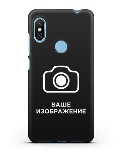 Чехол с фотографией, рисунком, логотипом на заказ силикон черный для Xiaomi Redmi Note 6 Pro