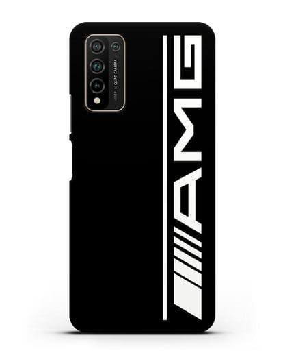 Чехол с логотипом AMG силикон черный для Honor 10X Lite