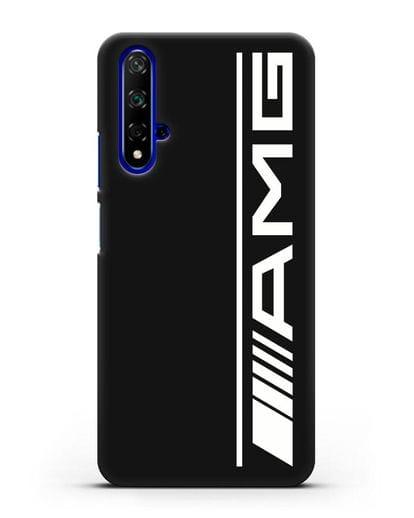 Чехол с логотипом AMG силикон черный для Honor 20