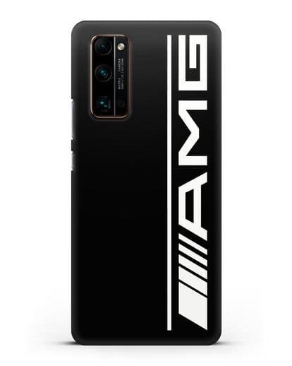 Чехол с логотипом AMG силикон черный для Honor 30 Pro Plus