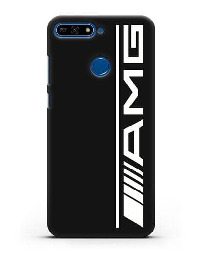 Чехол с логотипом AMG силикон черный для Honor 7А Pro