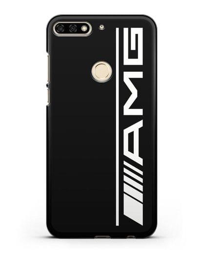 Чехол с логотипом AMG силикон черный для Honor 7C