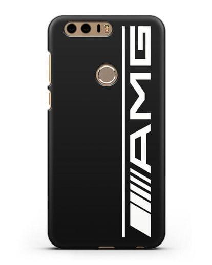 Чехол с логотипом AMG силикон черный для Honor 8