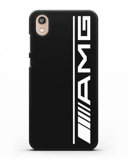 Чехол с логотипом AMG силикон черный для Honor 8S