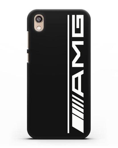 Чехол с логотипом AMG силикон черный для Honor 8S Prime