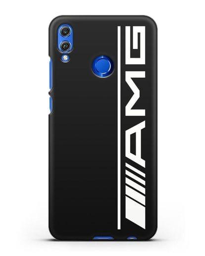 Чехол с логотипом AMG силикон черный для Honor 8X