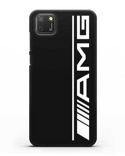 Чехол с логотипом AMG силикон черный для Honor 9S