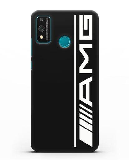 Чехол с логотипом AMG силикон черный для Honor 9X lite