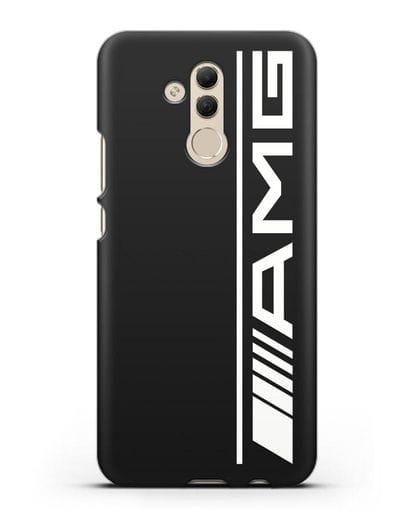 Чехол с логотипом AMG силикон черный для Huawei Mate 20 Lite