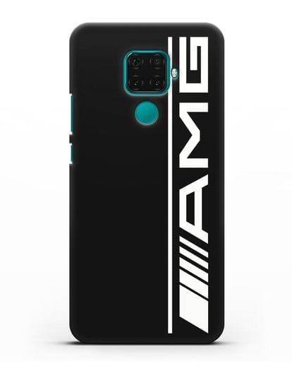 Чехол с логотипом AMG силикон черный для Huawei Mate 30 Lite