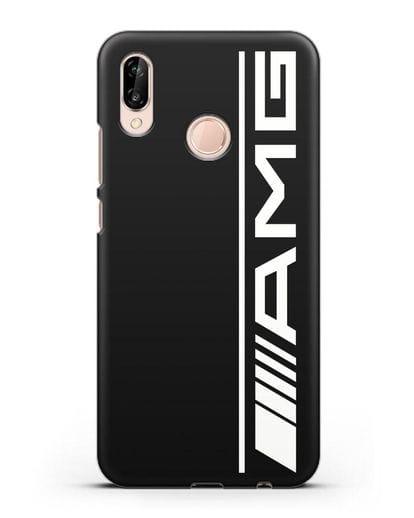 Чехол с логотипом AMG силикон черный для Huawei P20 Lite