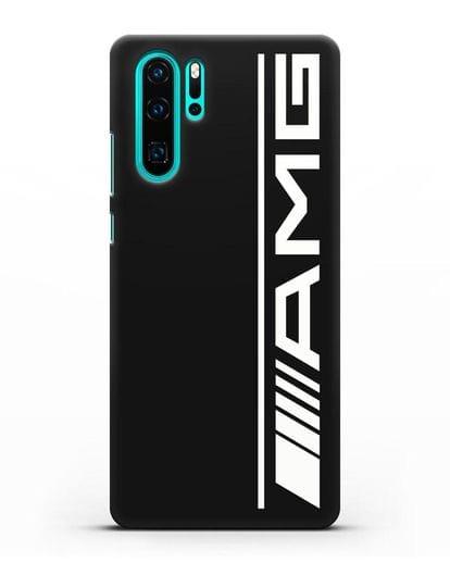 Чехол с логотипом AMG силикон черный для Huawei P30 Pro